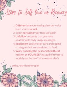 steps to self-love or recovery
