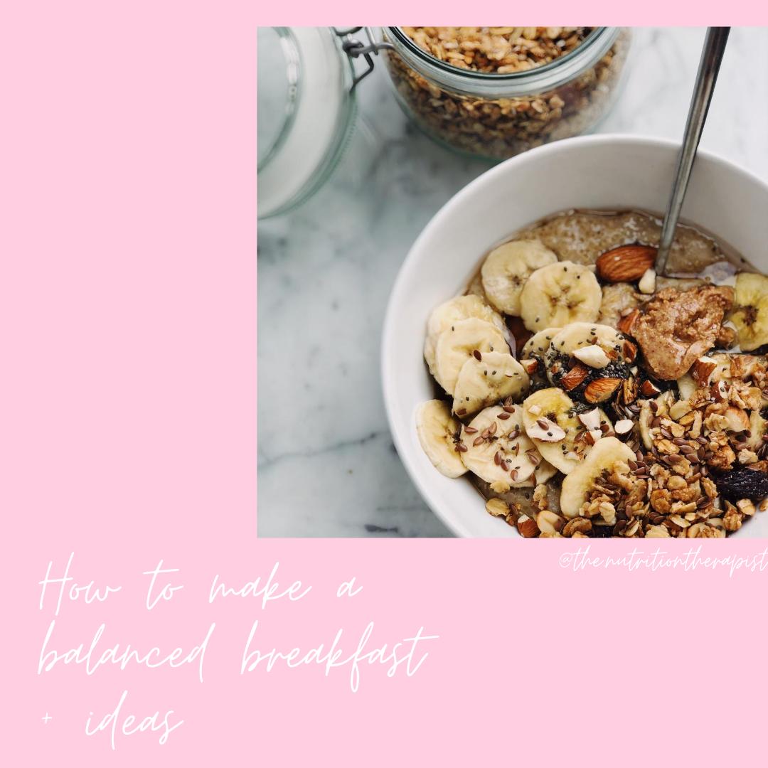 healthy + balanced breakfast