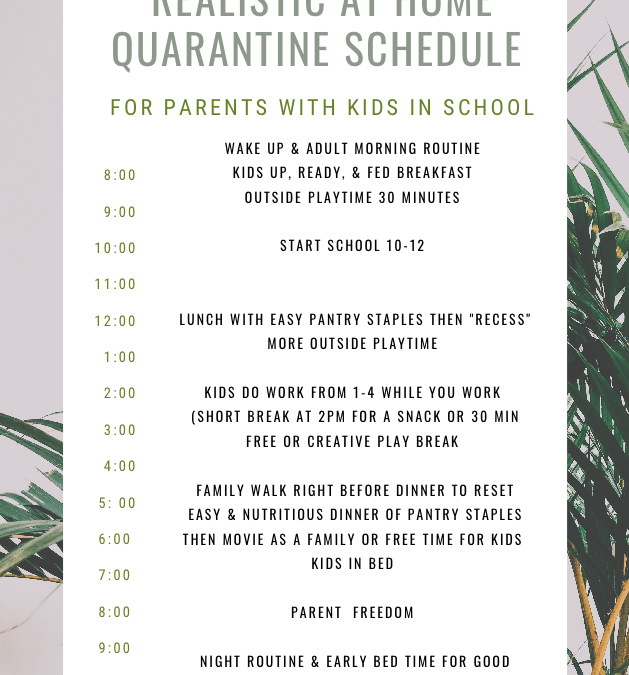 How to Establish a Quarantine Routine with Kids at Home